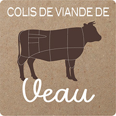 Colis de viande de veau bio (environ 5 Kg)